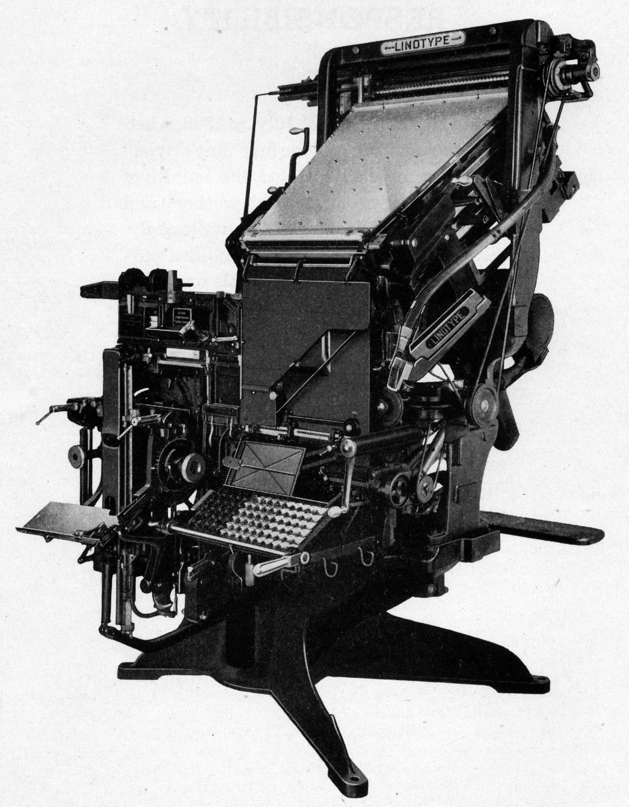 Телеграфное устройство mergenthaler linotype